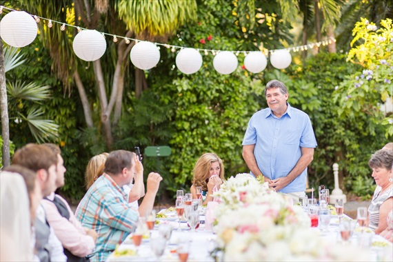 Filda Konec Photography - father of the groom gives a toast at key west wedding