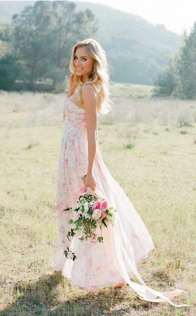 Pretty Floral Print Bridesmaid Dresses