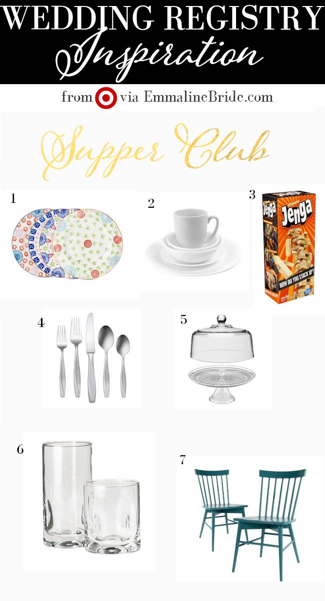 Supper Club Wedding Registry Finds