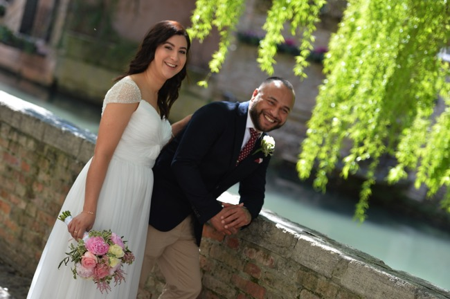 bride and groom in Italy | Planner: Venice Events | via http://emmalinebride.com/real-weddings/spring-wedding-in-italy-andre-shona/
