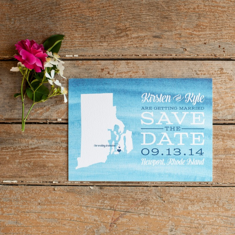 Watercolor | Save the Date Postcards
