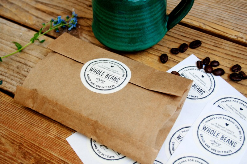 Whole Beans Wedding Coffee BagsCheers Whole Bean Coffee Favor Bags | How to Make Coffee Favors