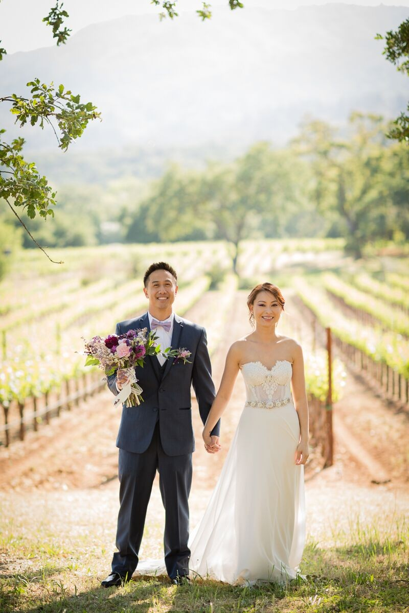 Winery Style Wedding Shoot - The Bride and Groom After Ceremony (photo: olivia smartt) https://emmalinebride.com/themes/winery-style-wedding/