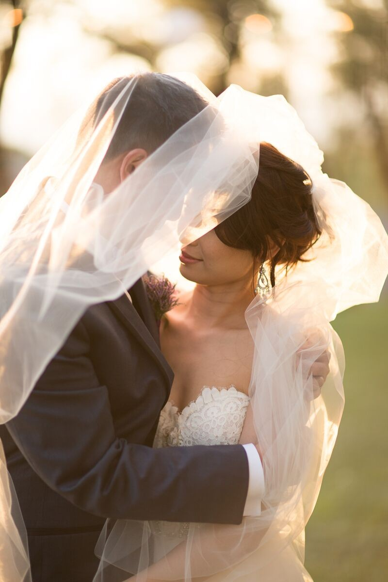 Winery Styled Wedding Shoot - The Bride and Groom Under Veil (photo: olivia smartt) https://emmalinebride.com/themes/winery-style-wedding/