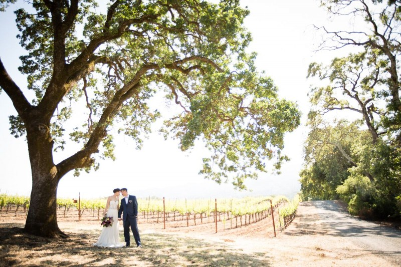 Winery Style Wedding Shoot - The Bride and Groom at Winery (photo: olivia smartt) https://emmalinebride.com/themes/winery-style-wedding/