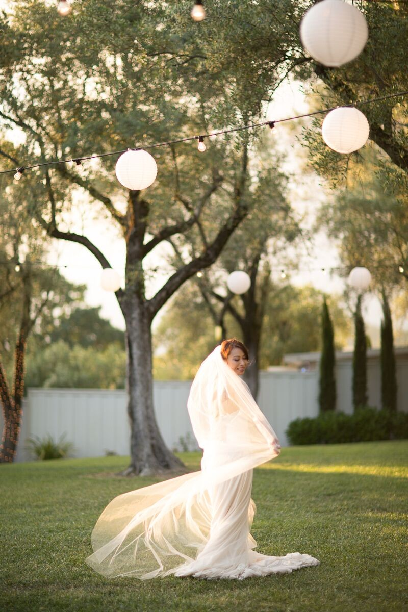Winery Styled Wedding Shoot - The Bride in Veil (photo: olivia smartt) http://emmalinebride.com/themes/winery-style-wedding/