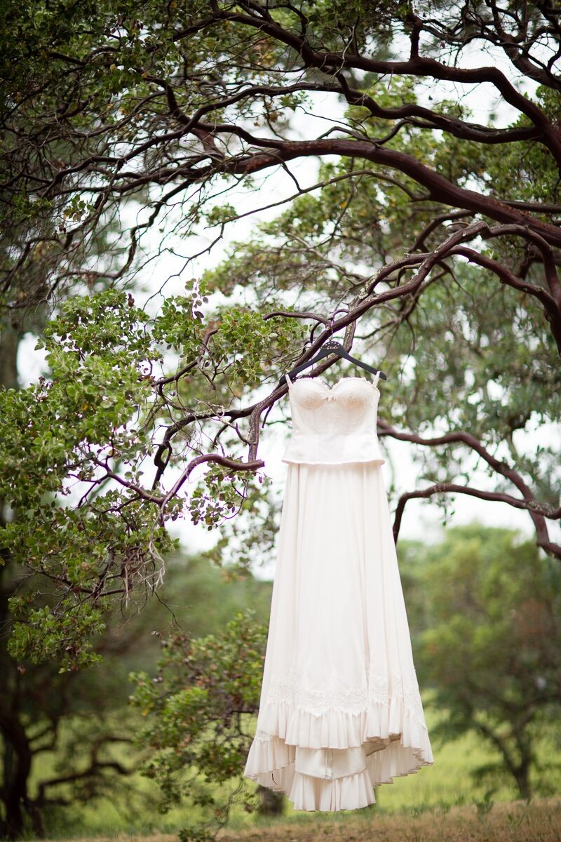 Winery Style Wedding Shoot - The Bride's Dress on Hanger (photo: olivia smartt) http://emmalinebride.com/themes/winery-style-wedding/