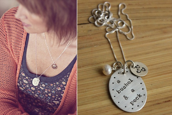 Wedding Jewelry for Mom - a bushel and a peck necklace (by tag you're it jewelry)