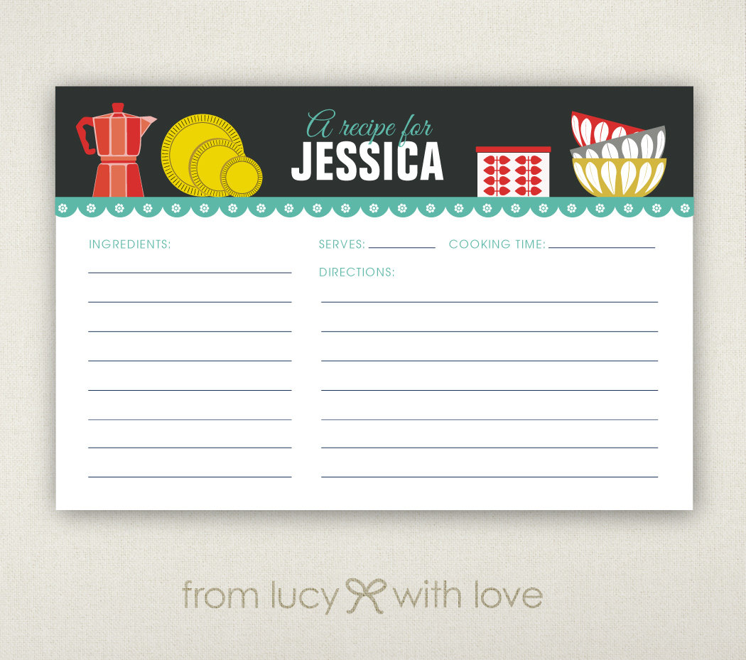 a recipe for personalized card by lucy loves paper