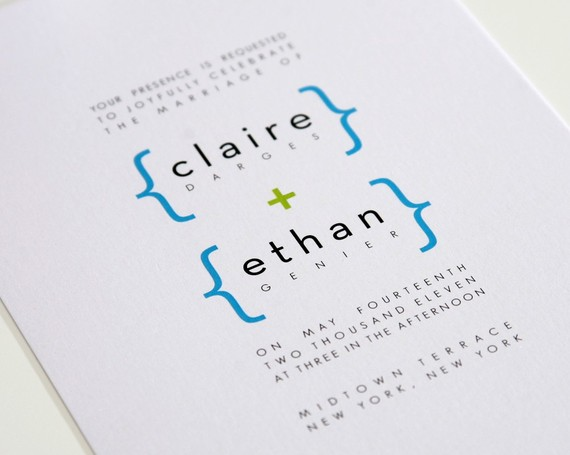 addition of love modern wedding invitations