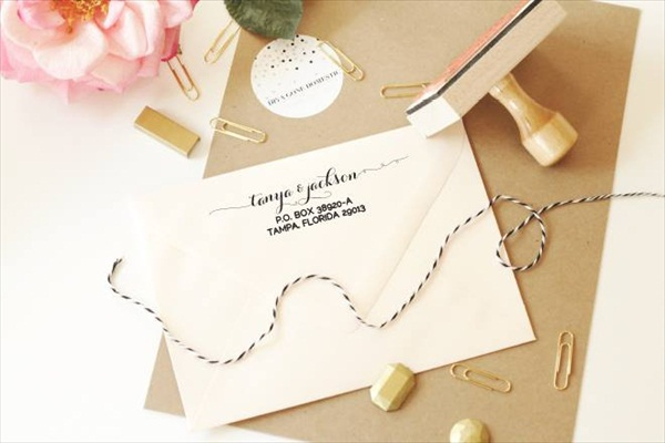 Custom Rubber Stamp for Wedding Invitations