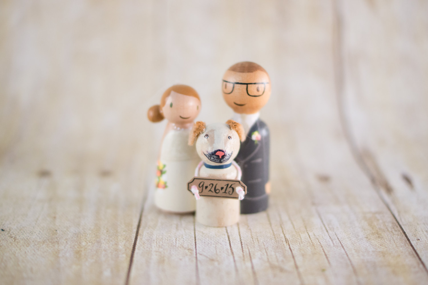 adorable cake topper with dog