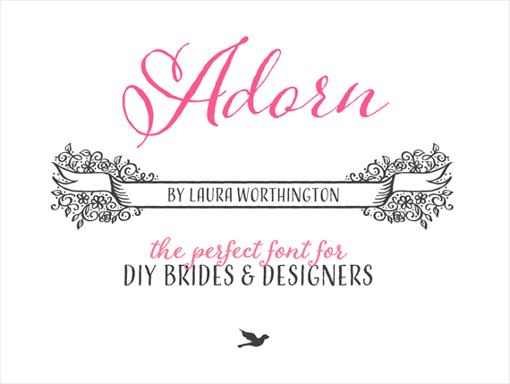 Adorn (by Laura Worthington) | The Best Wedding Font (+ Here's Why...) via EmmalineBride.com
