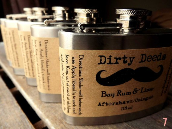 Gifts for the Groom He'll Actually Use (via EmmalineBride.com) - Aftershave in a Flask by Dirty Deeds Soaps