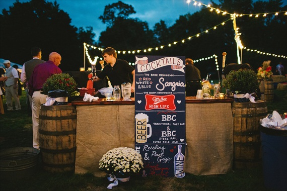 Americana Wedding: Libby + Ernie - bar (photo: michelle gardella)
