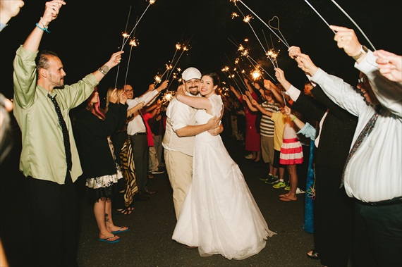americana-wedding-sparkler-send-off (photo: michelle gardella)