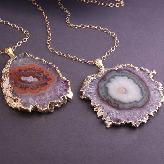 amethyst stalactite necklaces