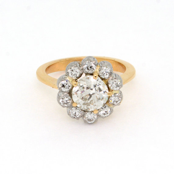 antique daisy cluster engagement ring by SITFineJewelry   daisy ideas theme weddings