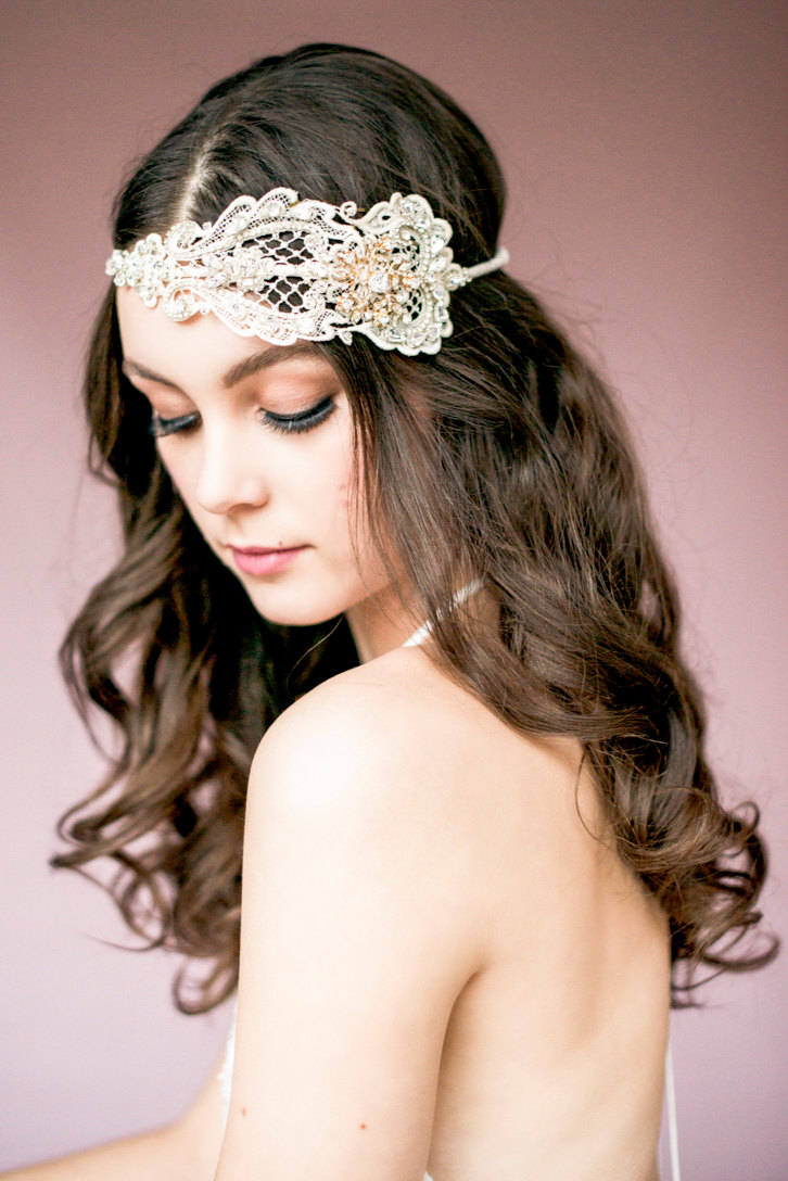 antonia crystal lace bridal headband