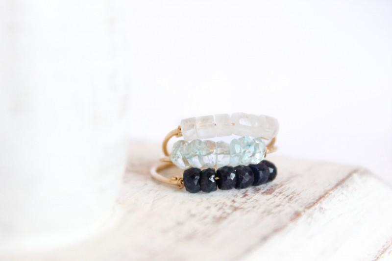 aquamarine stacking ring | via Best Aquamarine Jewelry Finds on Etsy - https://emmalinebride.com/bride/best-aquamarine-jewelry/