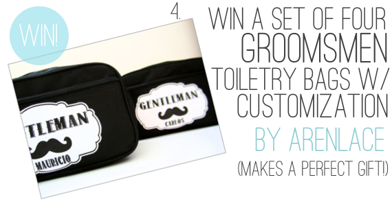 Holiday Giveaway at Emmaline Bride® - Day 2 - Groomsmen Toiletry Bags by Aren Lace