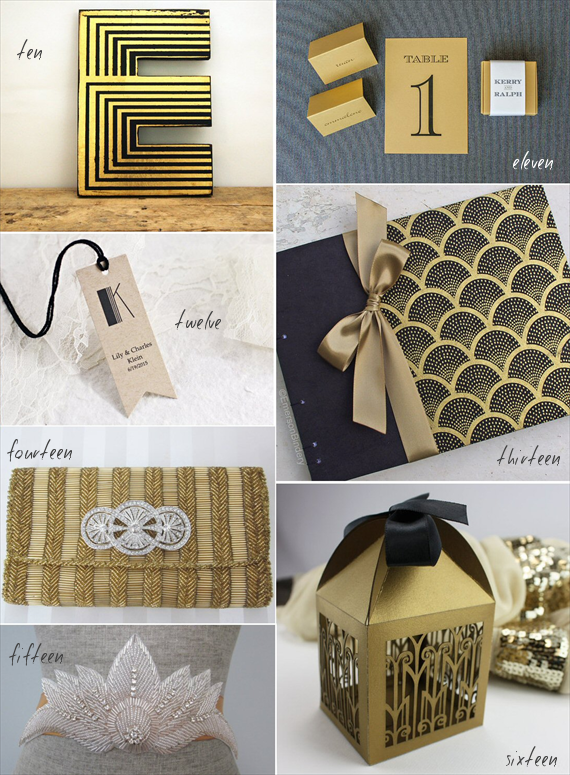 art deco wedding inspiration decor