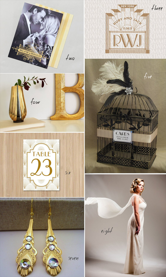 art deco wedding inspiration