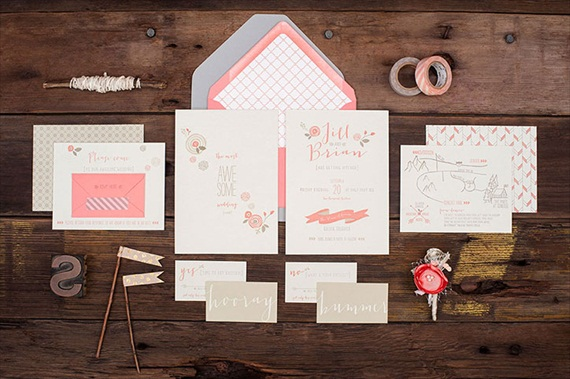 Awesome Wedding Invitation + Hooray / Bummer RSVPs