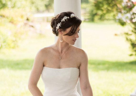 baby's breath wedding hair crown