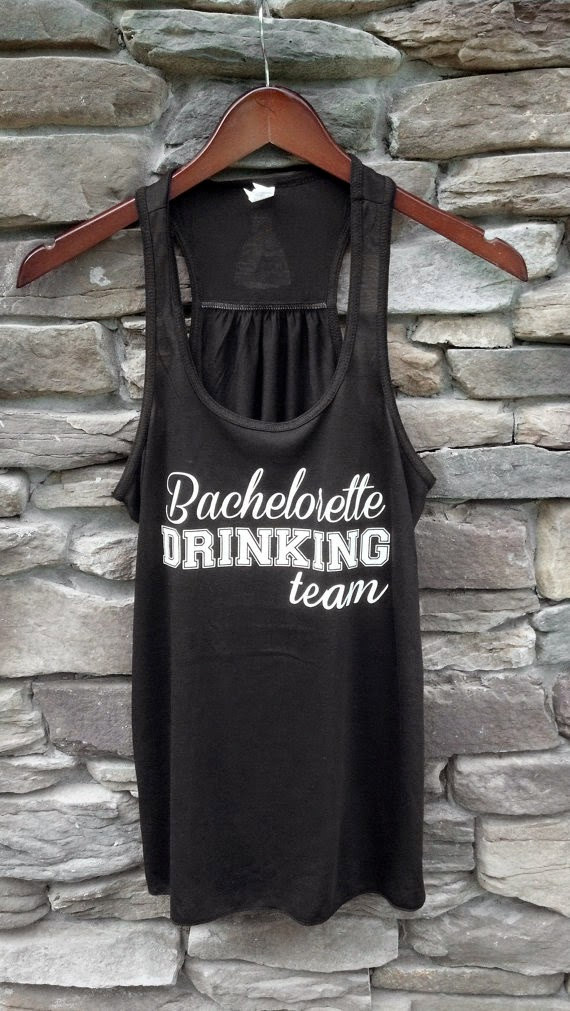 bachelorette drinking team tank by waterfal designs