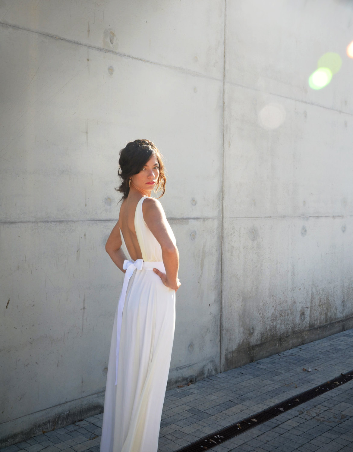 backless boho wedding dress | https://emmalinebride.com/bridal-gowns/dresses-boho-weddings/