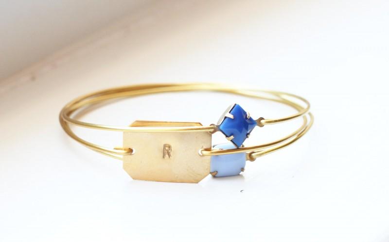 bridesmaid bangle bracelets with stones