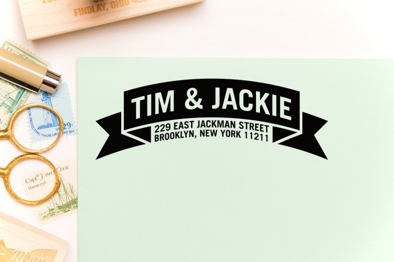 banner | return address stamps etsy