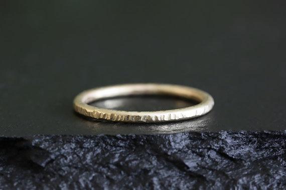 bark texture ring | handmade wedding bands | http://emmalinebride.com/jewelry/handmade-wedding-bands/