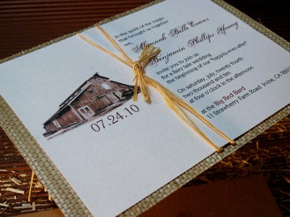 barn wedding invitation - Invitations for Wedding Themes