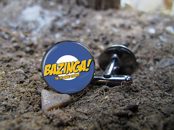 bazinga cufflinks big bang theory | Custom Cufflinks Groomsmen Gifts | via EmmalineBride.com