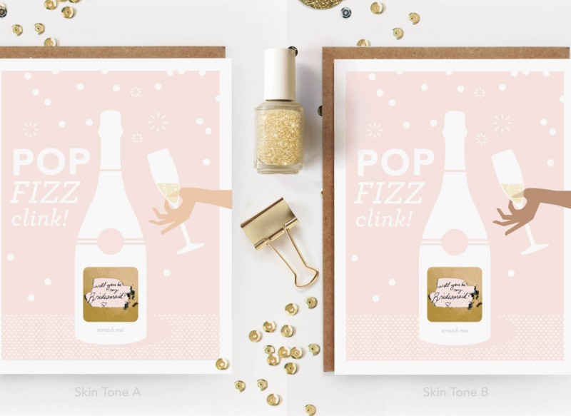 be my bridesmaid scratch off cards