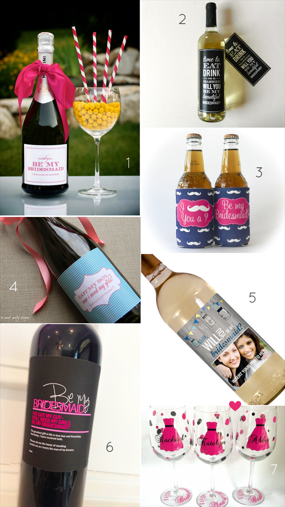 Be My Bridesmaid?  6 Creative Ways to Say It - wine!