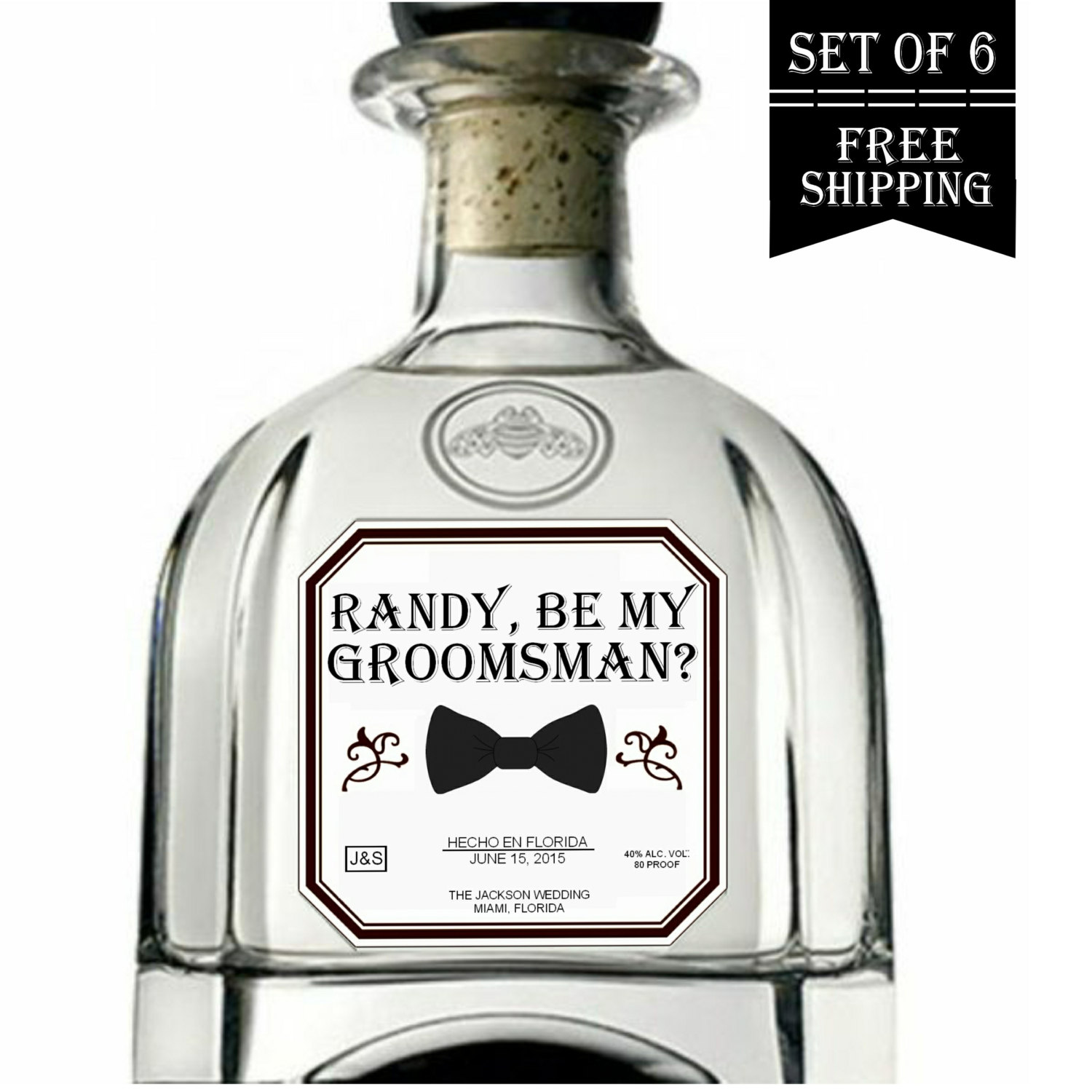 be my groomsman patron label