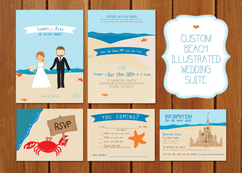 song request on rsvp - beach wedding invitation