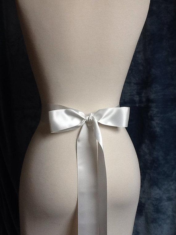 Beaded Dress Sash - bow on back