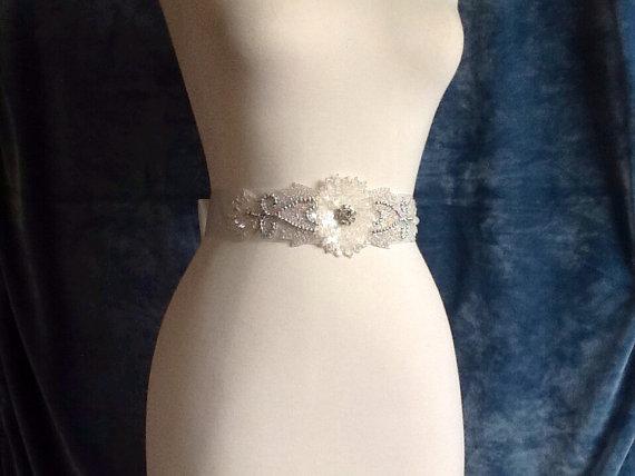 beaded dress sash