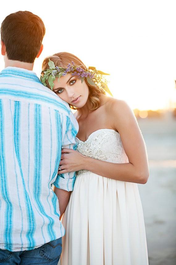 beaded sequin wedding gown