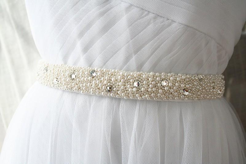 beads and crystals wedding dress sash | NEW Wedding Dress Sash Ideas via http://emmalinebride.com/bride/wedding-dress-sash-ideas/