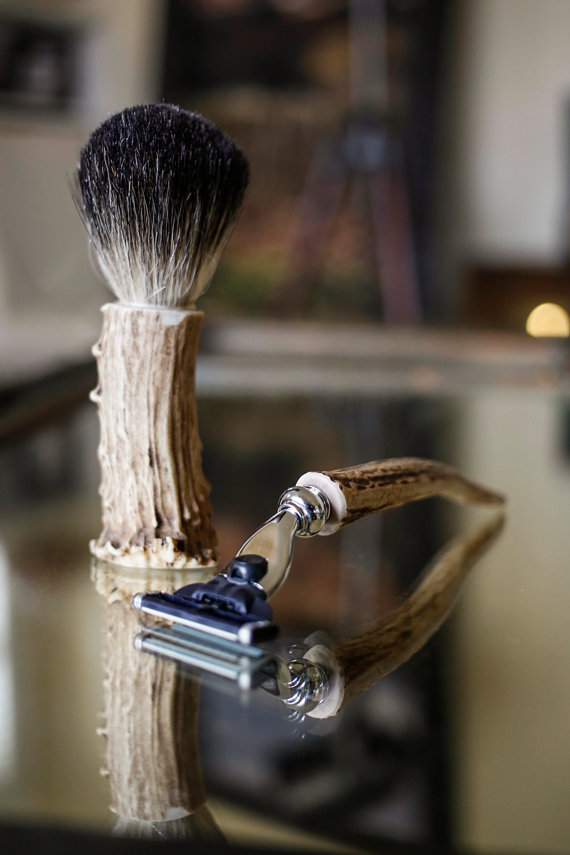 beer shaving brush and razor handle - Top Groomsmen Gift Ideas for 2014