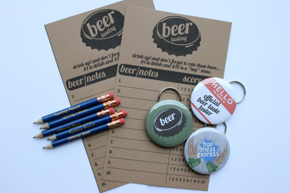 Beer Tasting Party Button Openers
