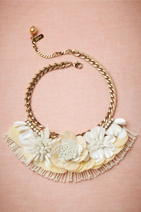 statement necklace with vintage inspired detail (via How to Wear a Bib Necklace)