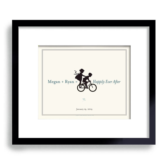 bicycle wedding theme print | via wedding prints personalized by theme