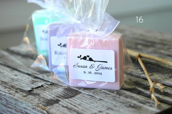 Bird Wedding Accessories - soap favors by Dancing Mooney