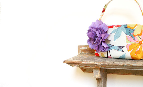 Bird Themed Wedding - Flower Girl Basket (by Eclu)